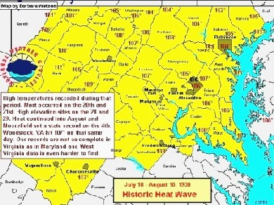 Maryland Heat Wave July August 1930
