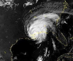 Hurricane Georges landfall, Louisiana