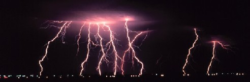 Multiple lightning strikes