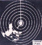Radar view of thunderstorm, 1945