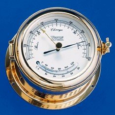 Martinique Brass Thermometer And Thermometer