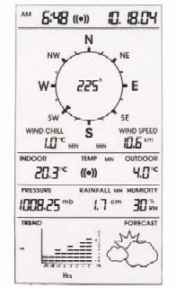 Thermor Weather Station Screen