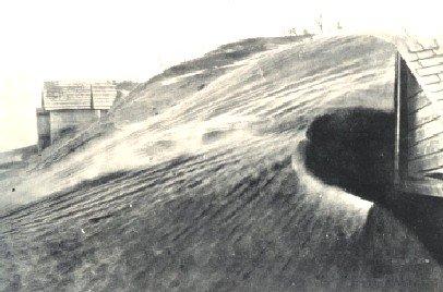 Dust buried homestead