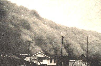 Dust storm, Kansas, 1930s
