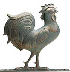 Full-bodied rooster from Yardiac's Range of Weathervanes