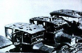 Hail damage to cars, 1926