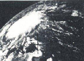 Hurricane Anna, first ever satellite image