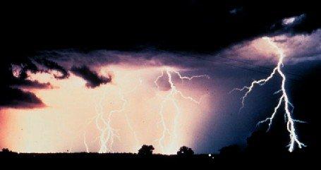 Multiple lightning strikes