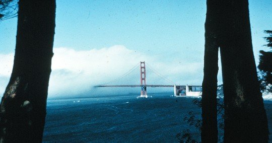 Sea fog, Golden Gate Bridge